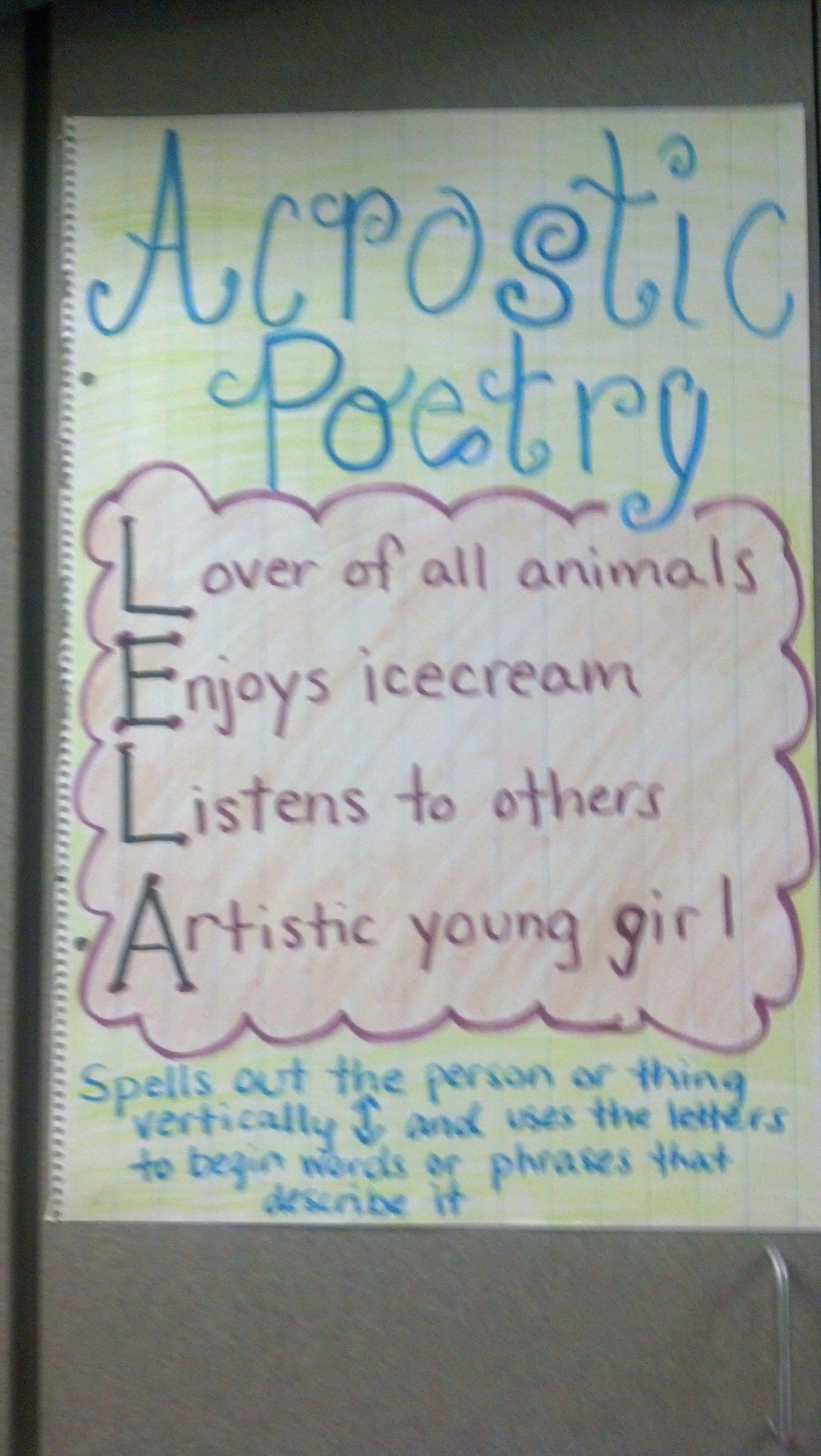 Holiday Poem Generator K-5 Computer Lab Acrostic name poem maker with photo