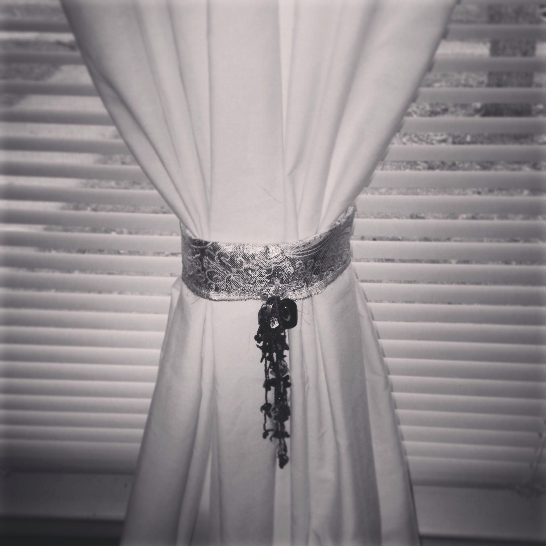 Creative Curtain Tie Backs Ideas : DIY curtain Tie-back!  Ideas for the House  Pinterest