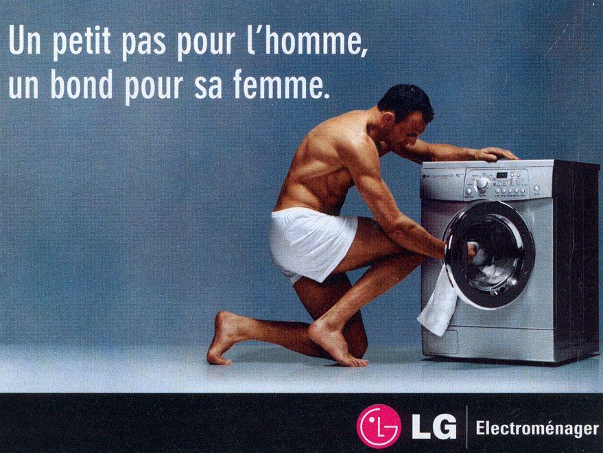 Petit pas pour l 39 homme machine laver advertising - Machine a laver petit modele ...