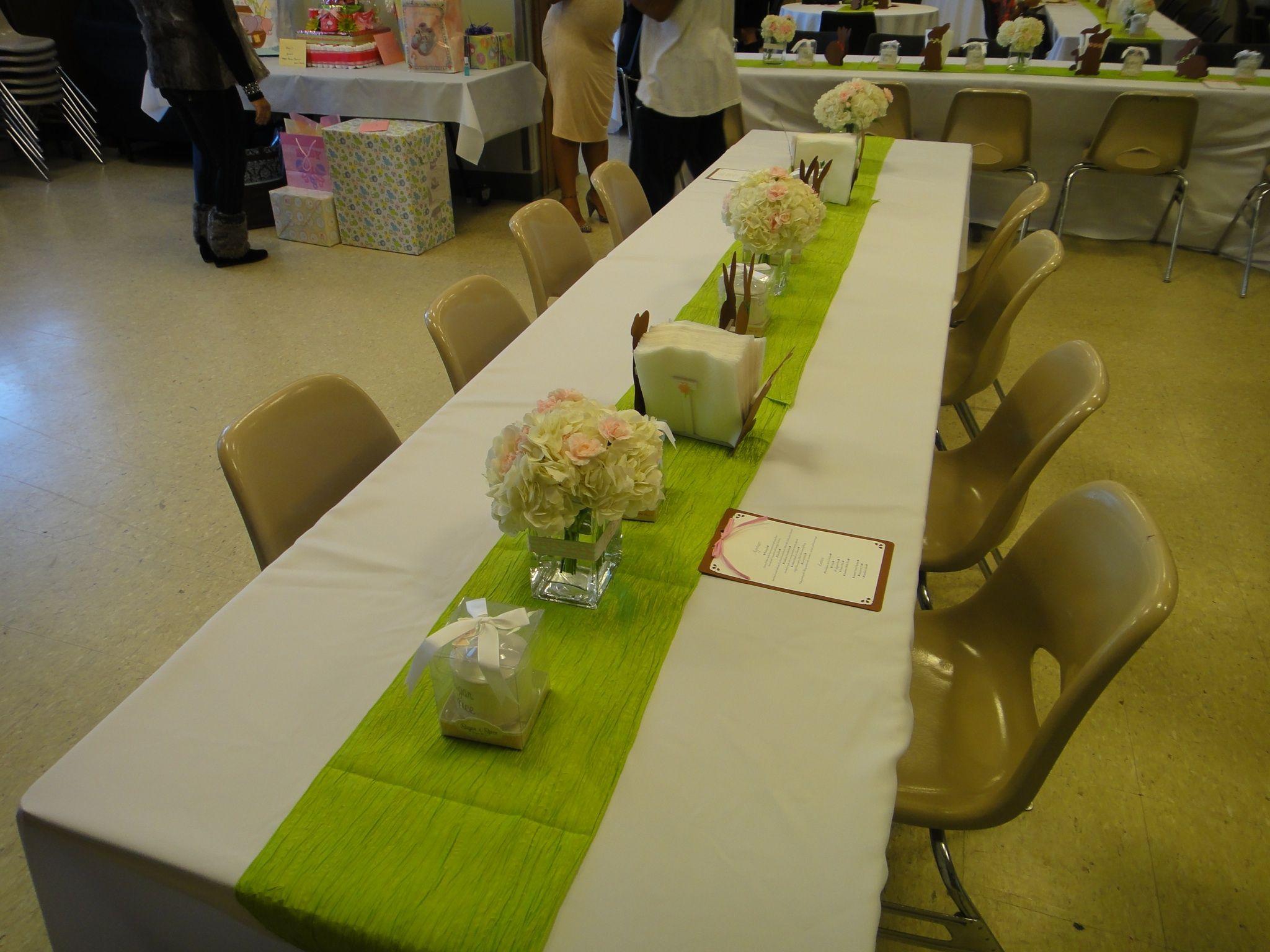 table set up baby shower pinterest