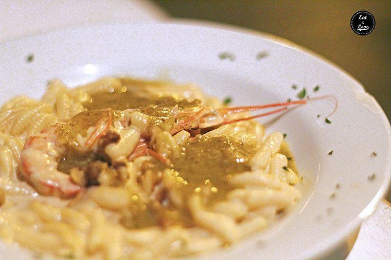 Malloreddus con gambas, gorgonzola y nueces en Aiò - restaurante pizzeria italiano sardo Malasaña Madrid
