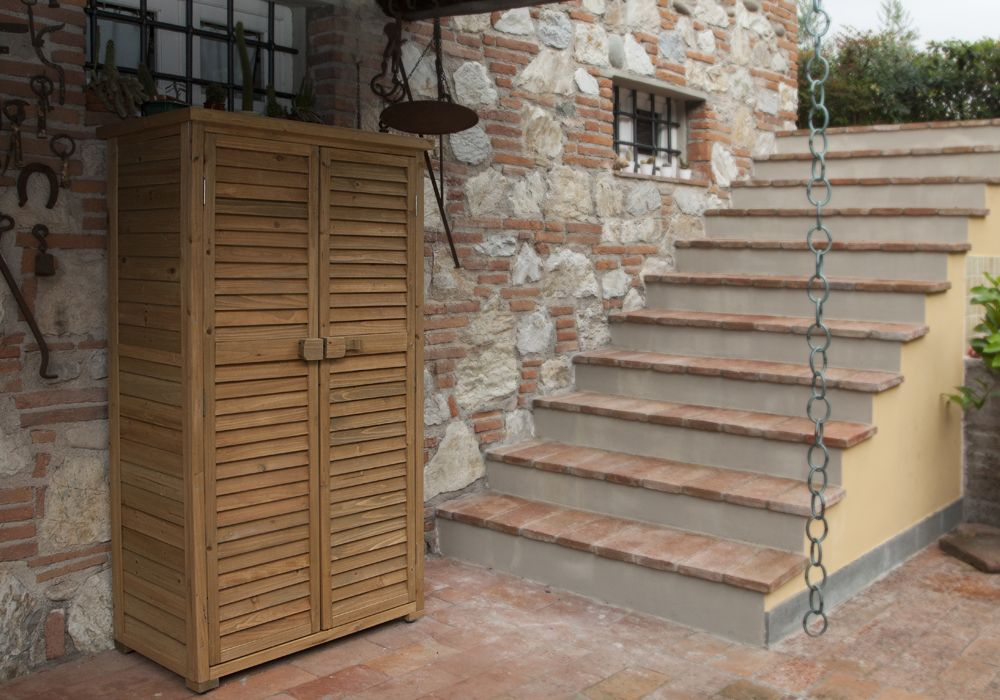 Mobile Credenza Da Esterno : Armadi per esterno in legno elegant da