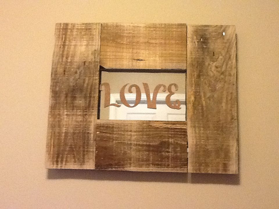Remade mirror from old barn wood craft ideas pinterest for Ideas using old barn wood