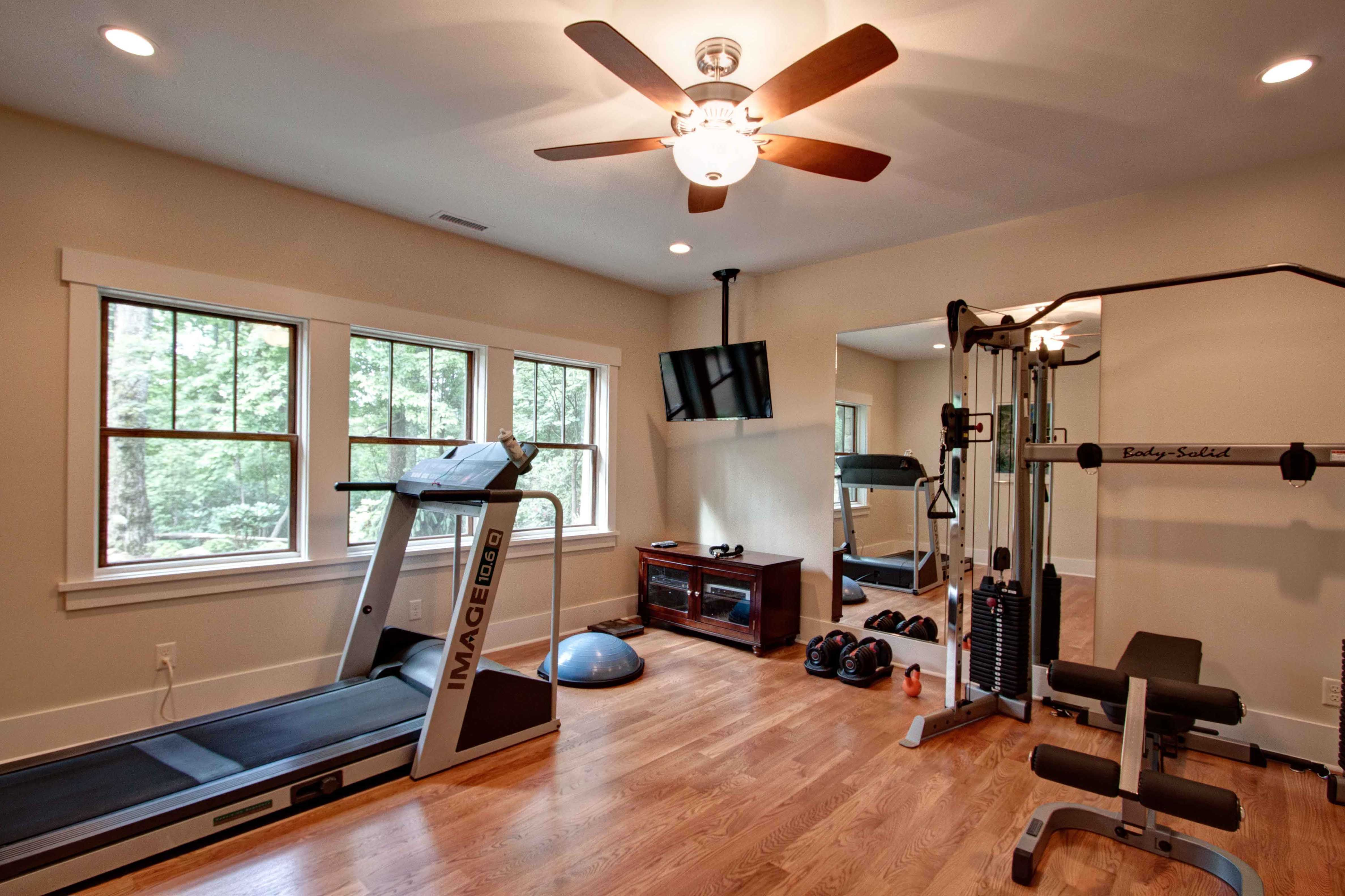 Exercise room new house pinterest