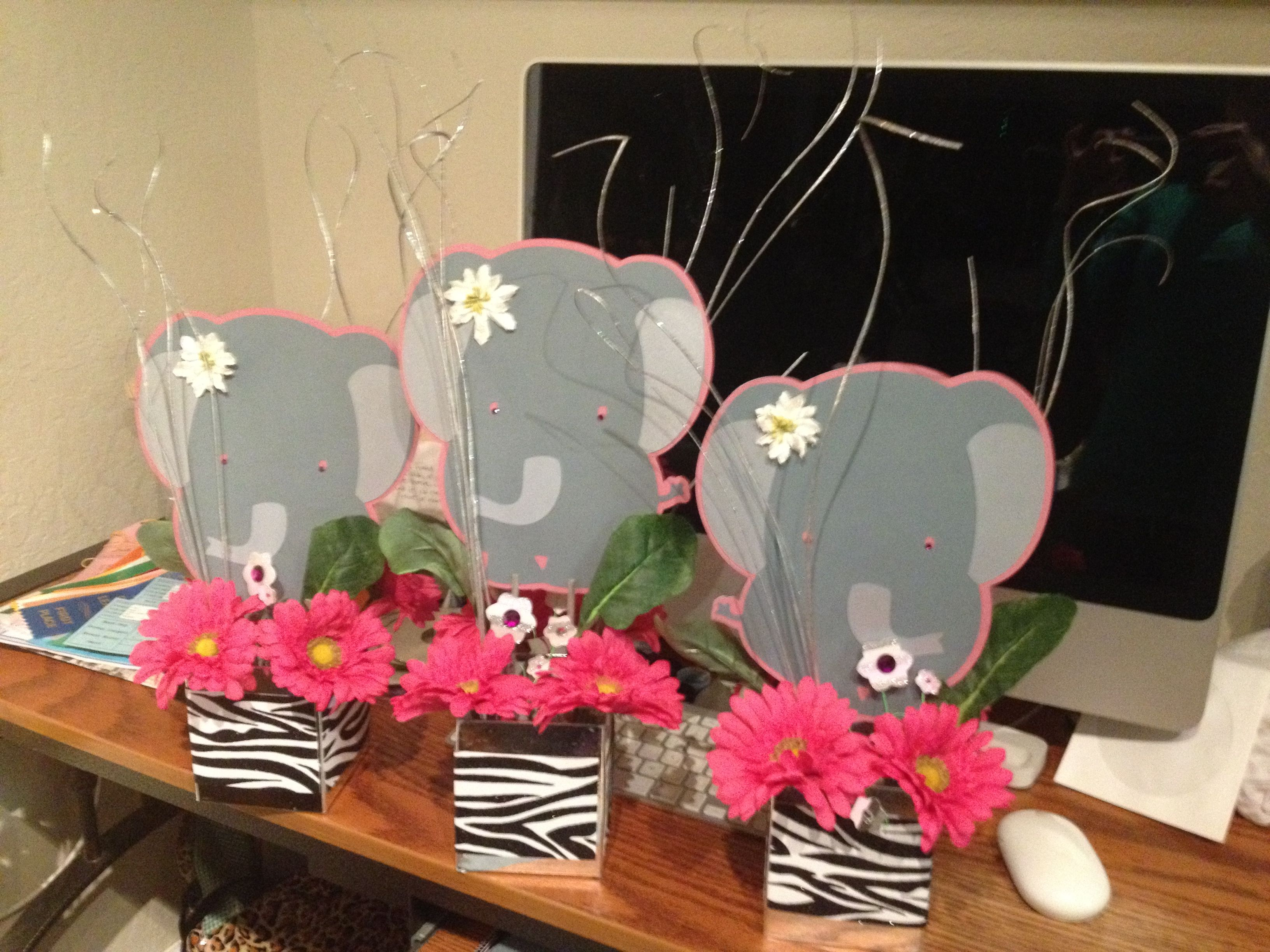 elephant centerpiece for baby shower baby mills pinterest