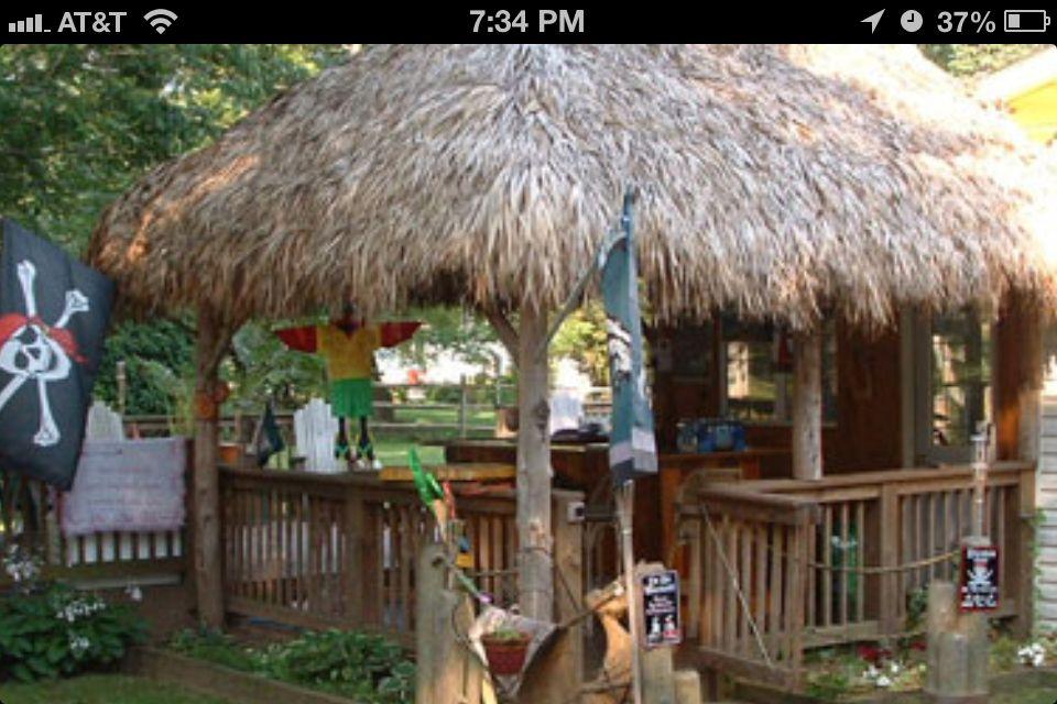 Tiki hut idea  Our Backyard & Pool  Pinterest