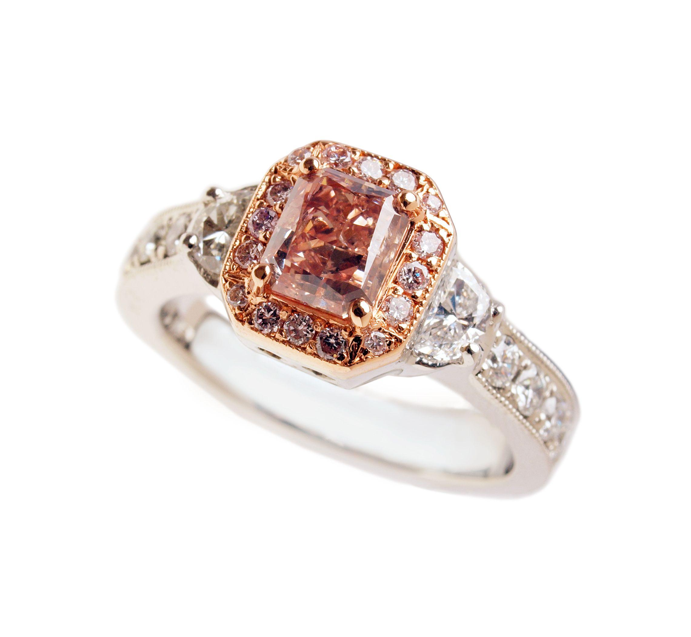 pink princess cut ring engagement rings