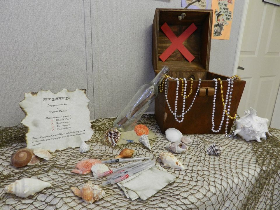 pirate shower table idea party baby showers pinterest
