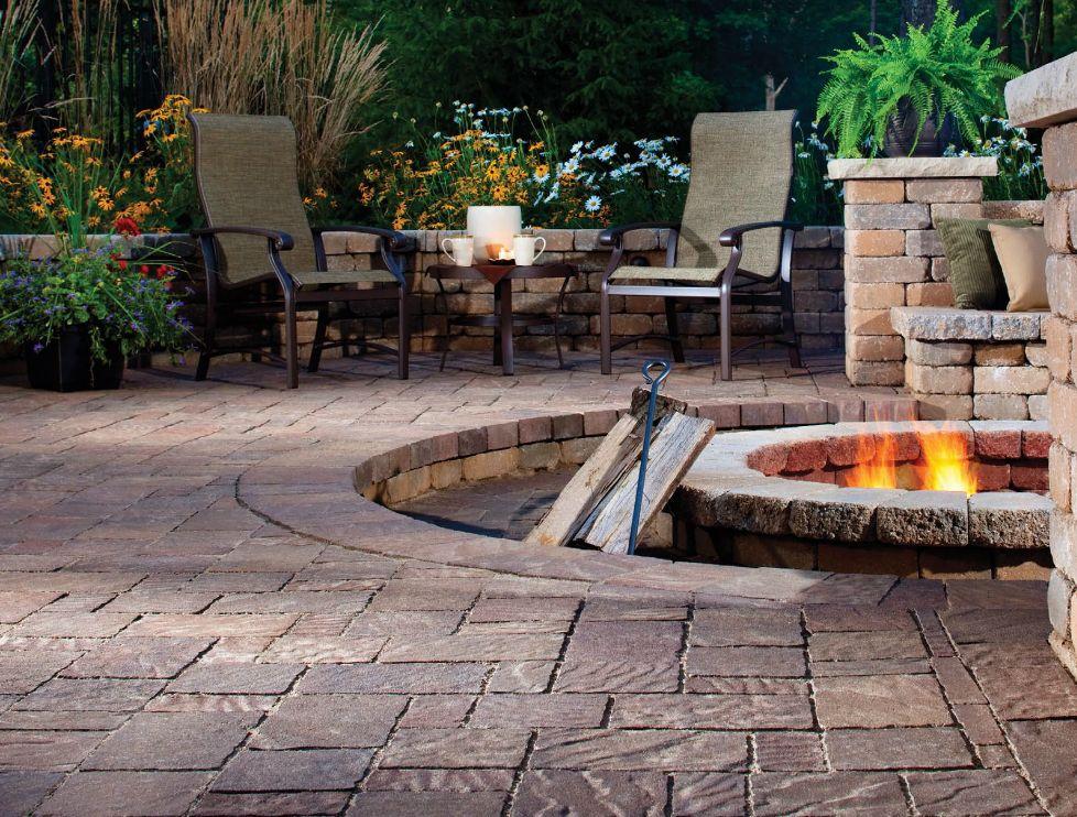 built in outdoor fire pit garden pinterest