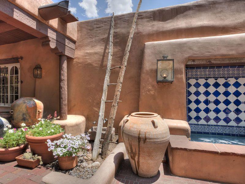 Patio rustico decoracion patios balcones y terrazas - Decoracion terrazas ...