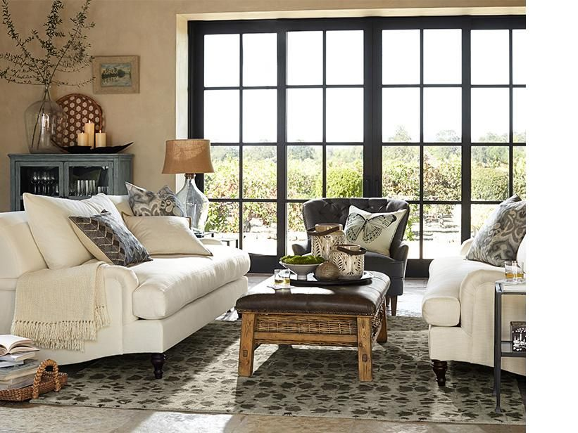 Living Room Pottery Barn House Pinterest