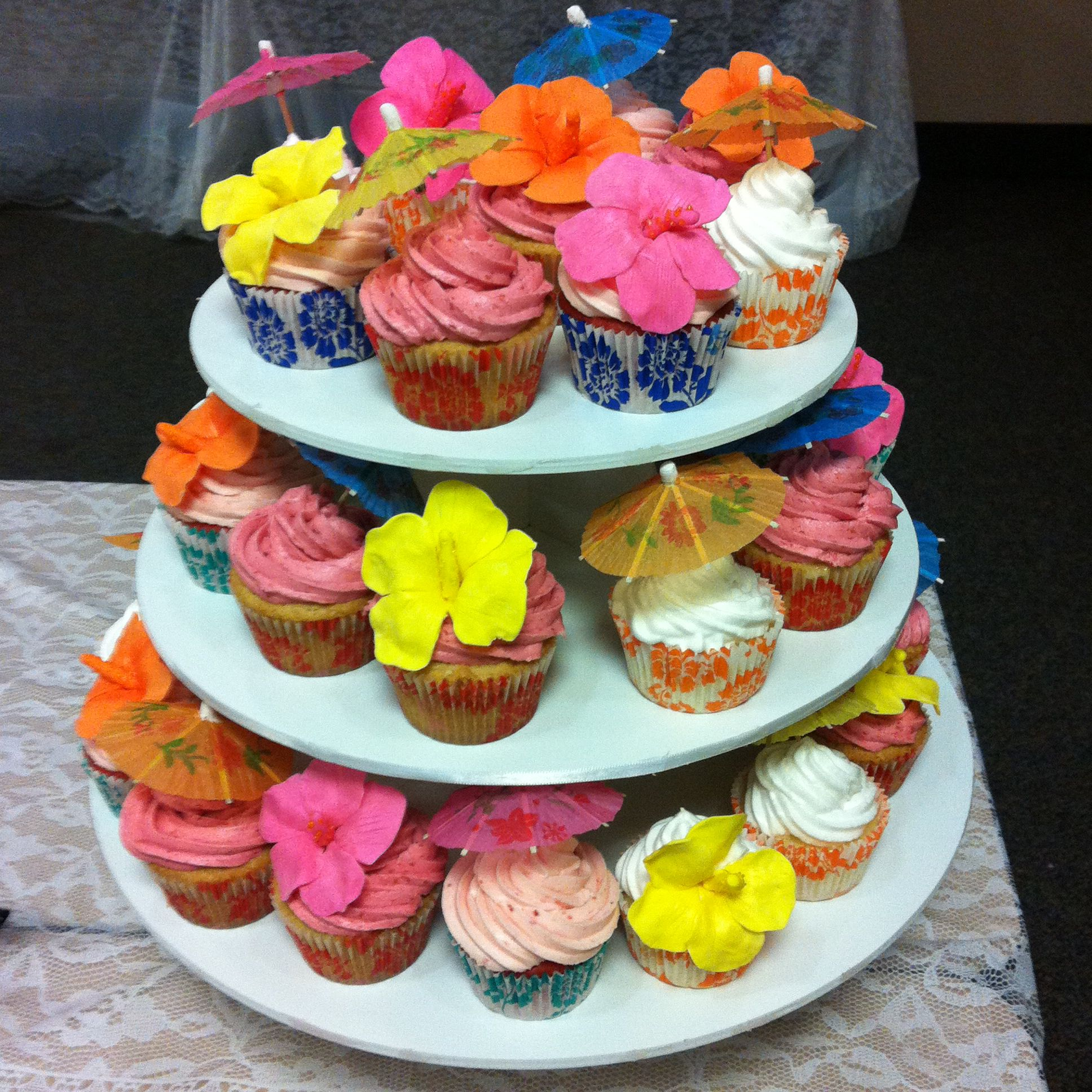 luau baby shower cupcakes hawaiian luau baby shower pinterest