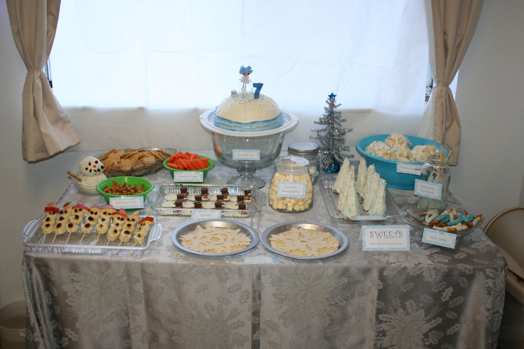 My Winter Wonderland Party Food Table