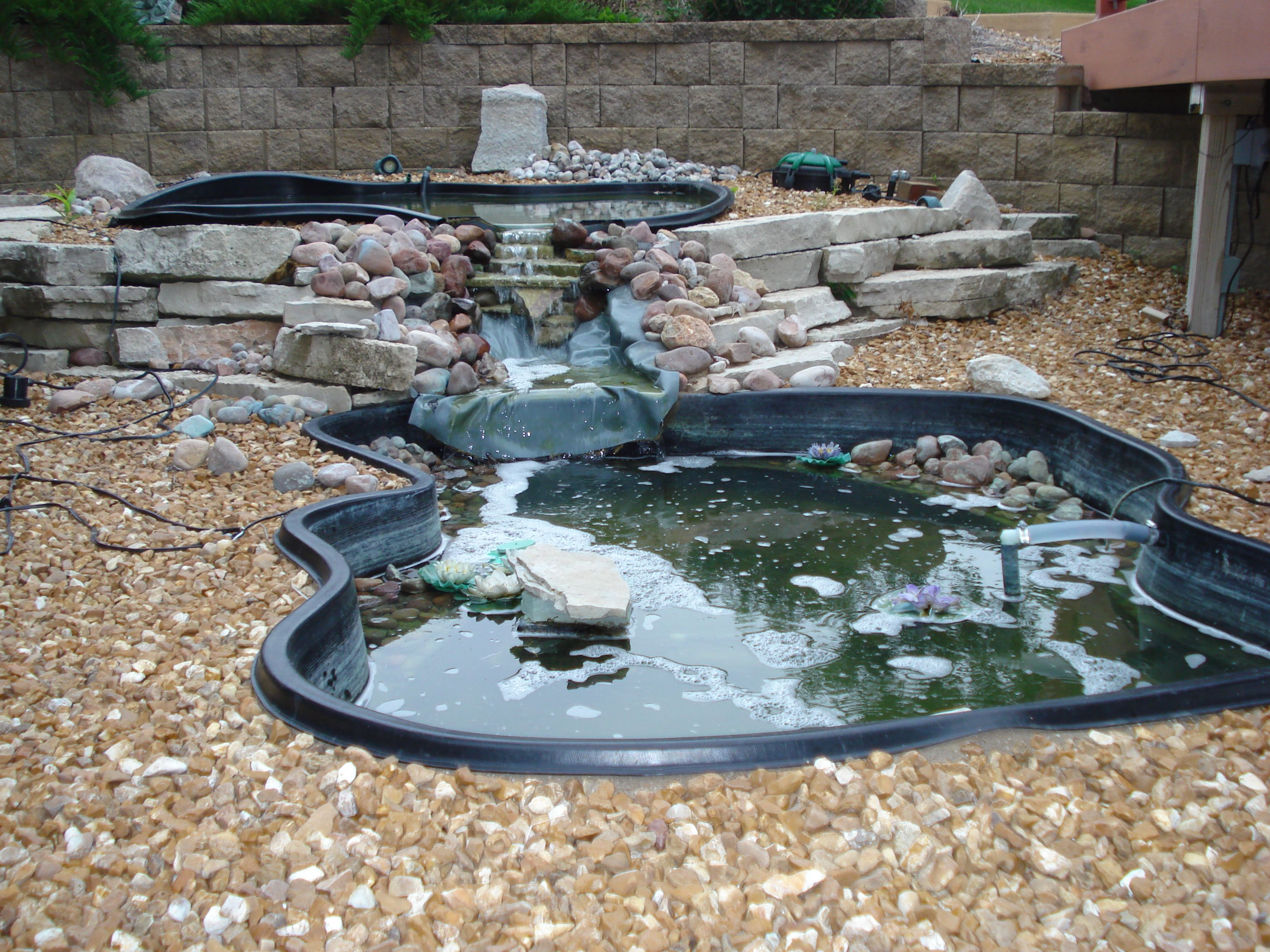 backyard frog ponds waterfall ideas for the yard