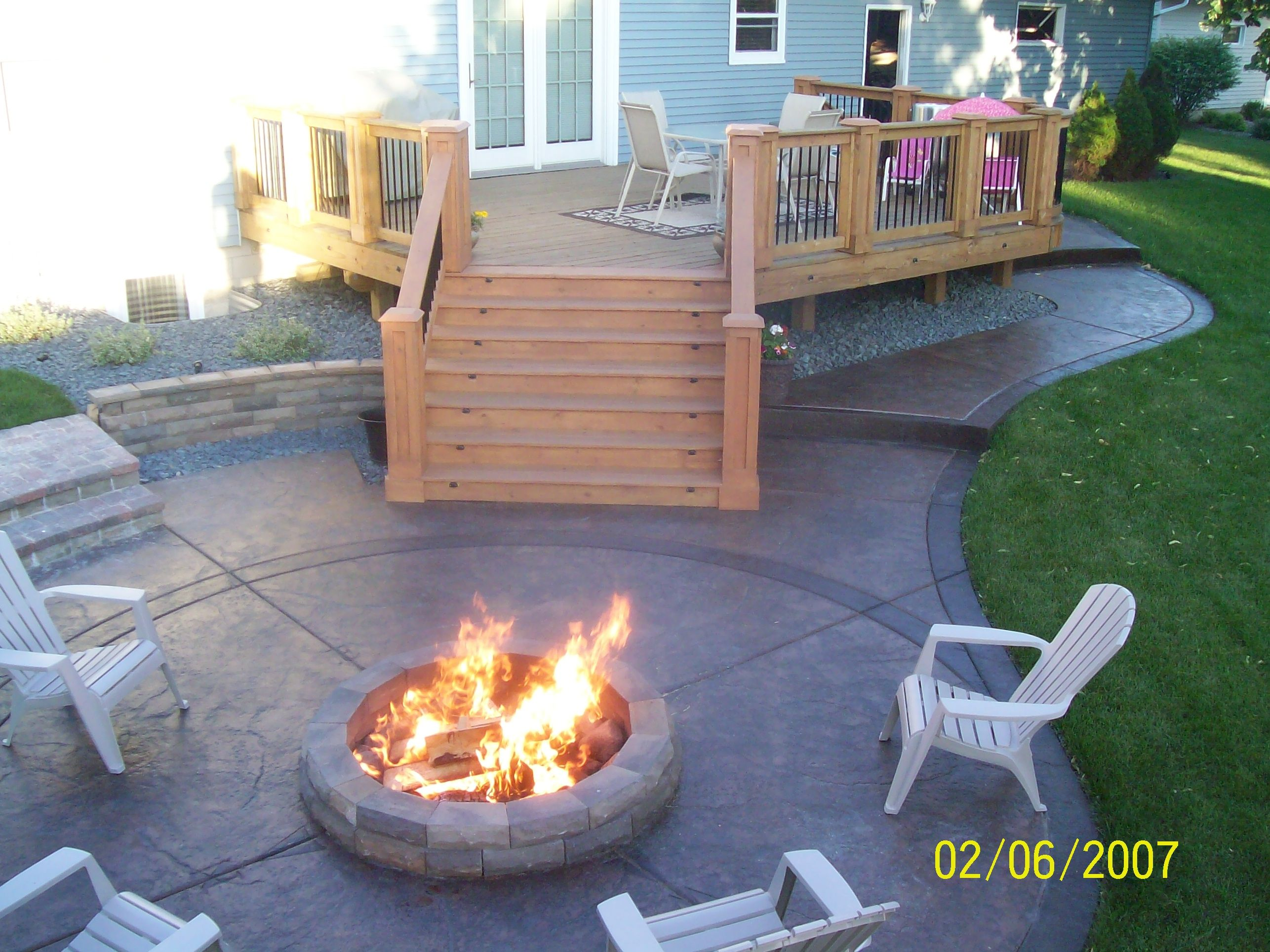 stamped stained concrete patio home sweet home pinterest
