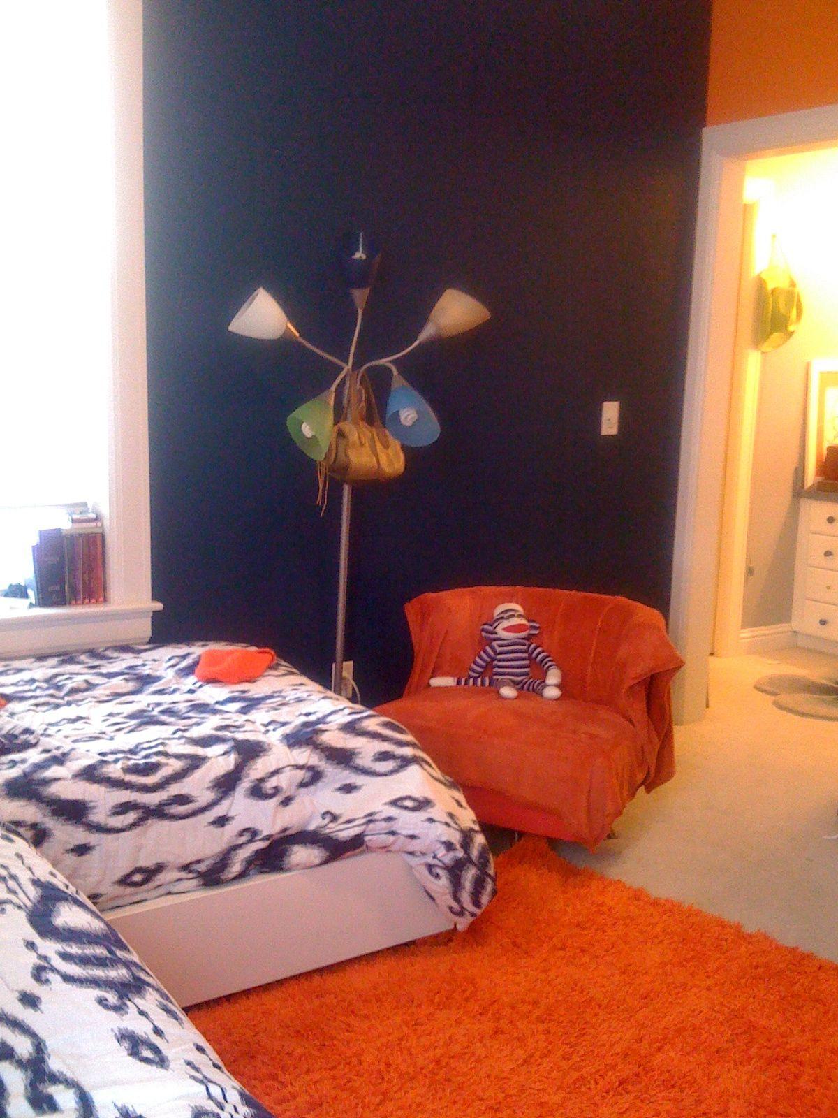 orange blue bedroom home and garden pinterest
