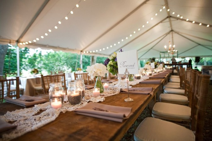 Family Style Farm Table Seating