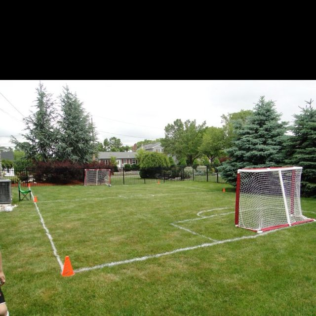 small soccer field in backyard various