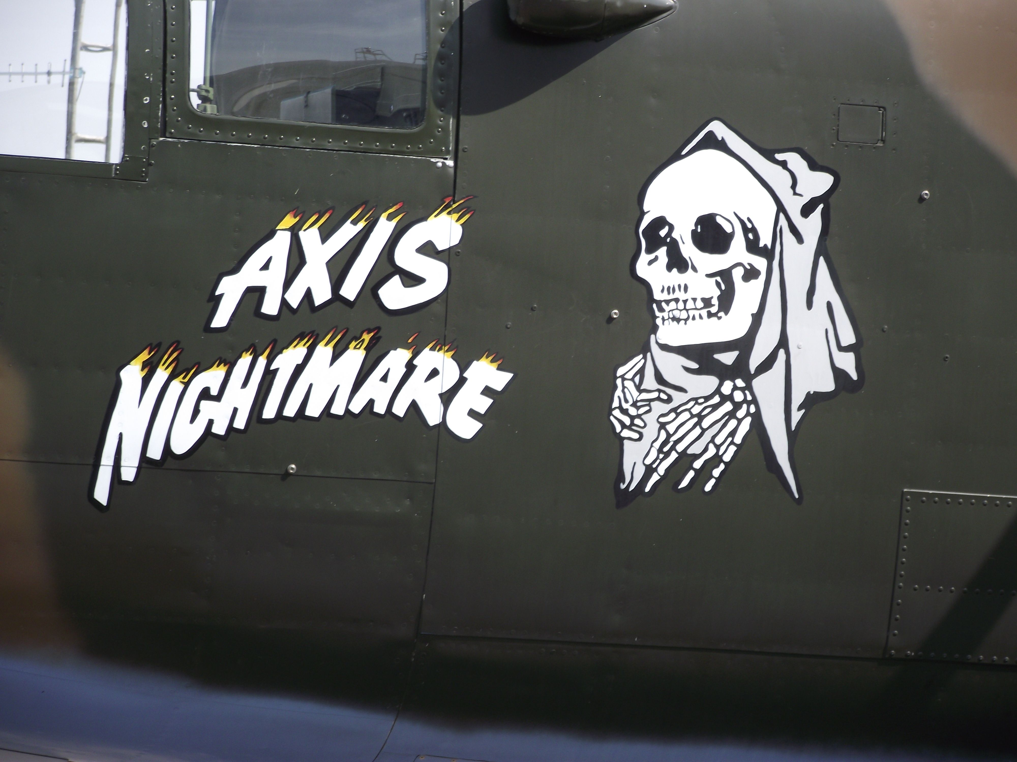axis nightmare flying b 25 mitchell nose art pinterest