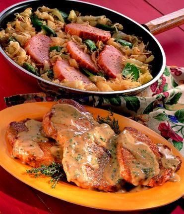 Braised Pork Chops w