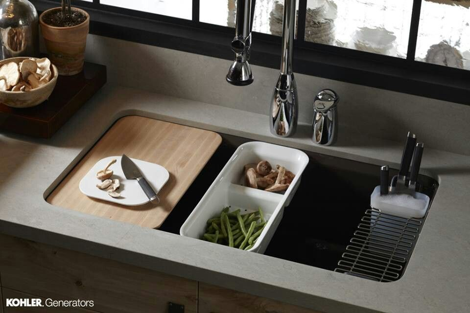 Kitchen Sink With Cutting Board For The Home Pinterest
