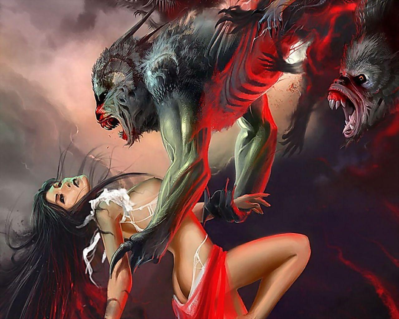 Werewolf porn pics naked natural tits