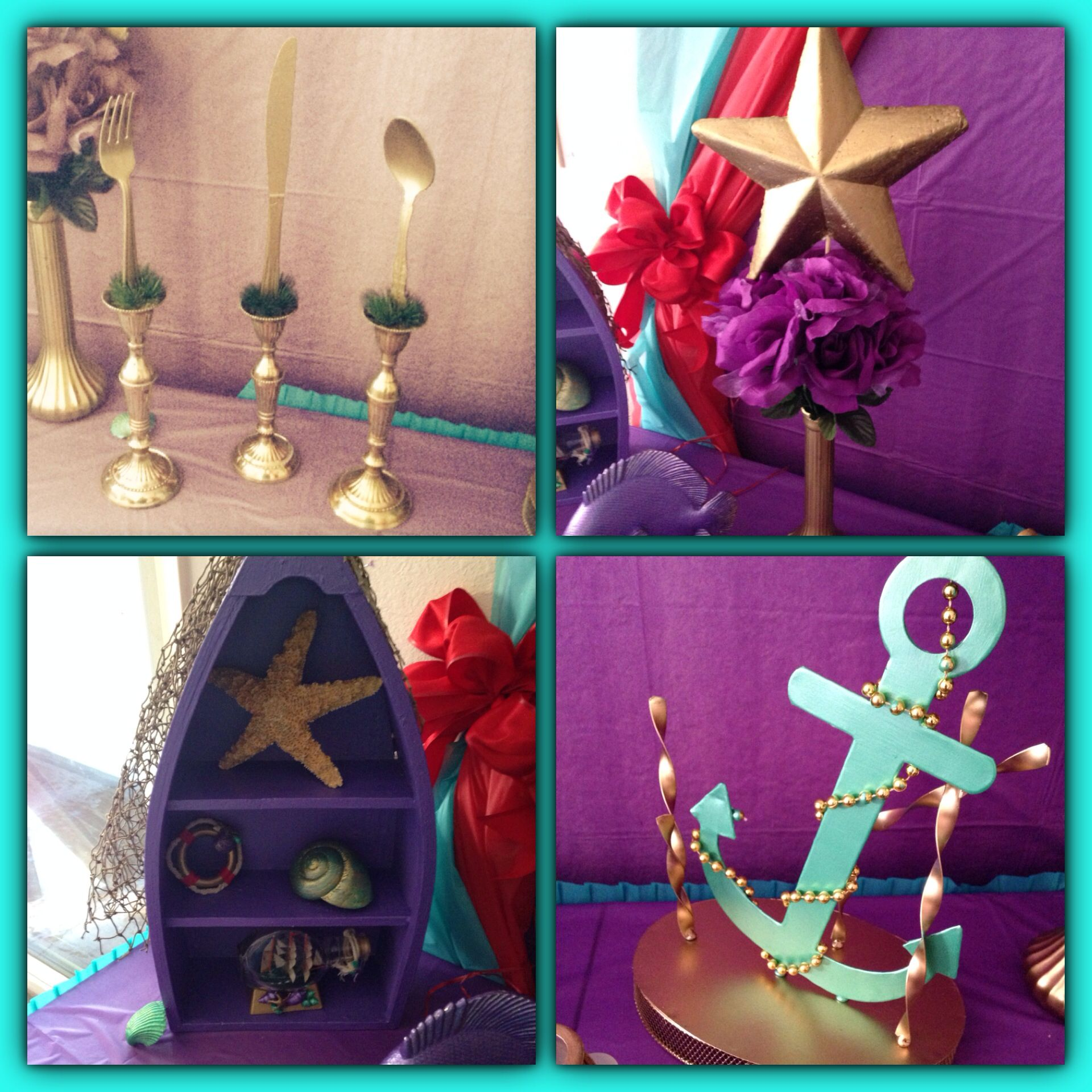 Little mermaid party decorations peyton 39 s party pinterest for Ariel decoration ideas