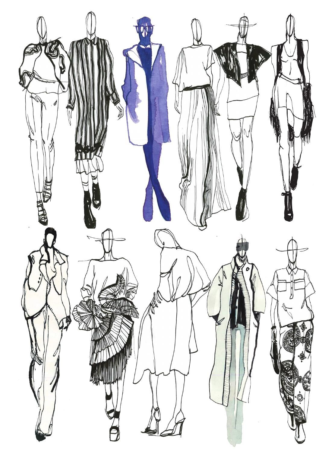 Learn how to sketch fashion clothes 42