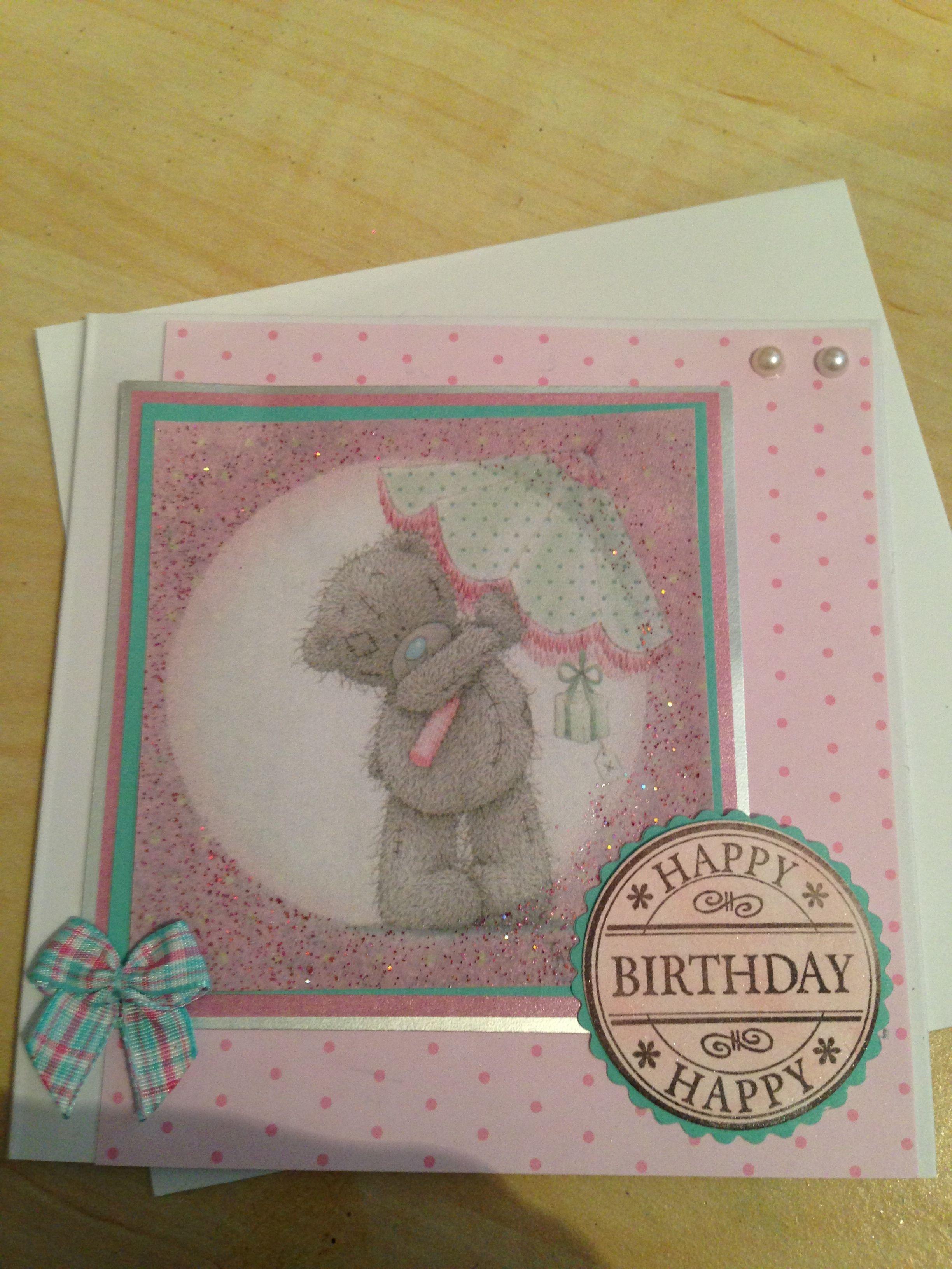 Tatty Ted Card Birthday Card #homemade   My craft stuff ...