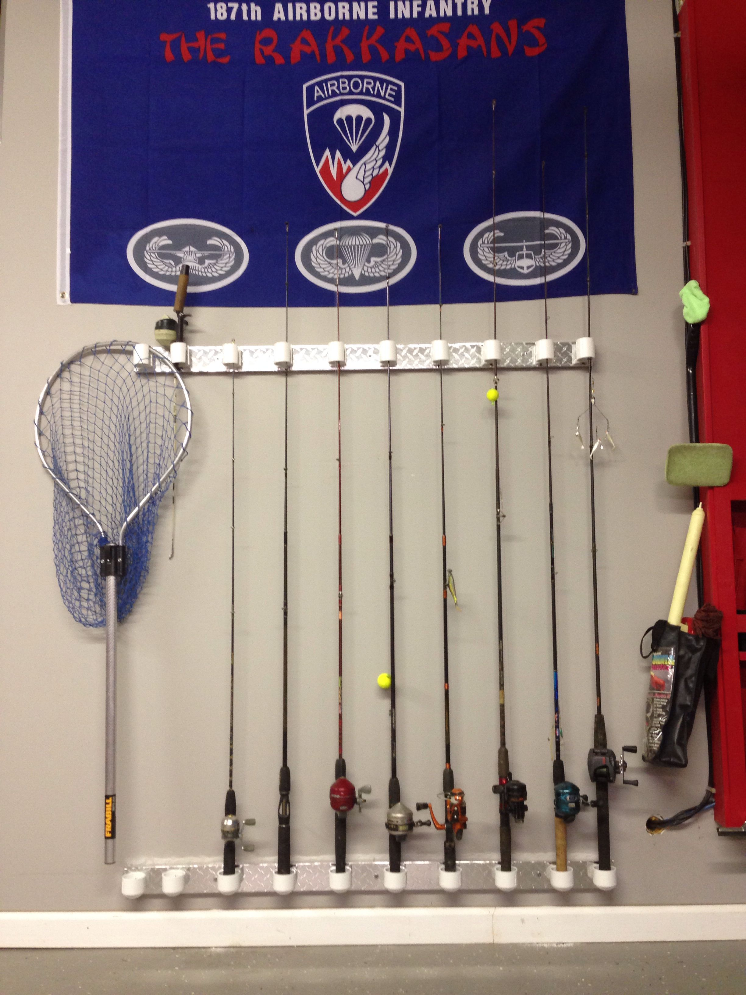 Fishing pole storage lake ideas pinterest for Fishing rod storage ideas