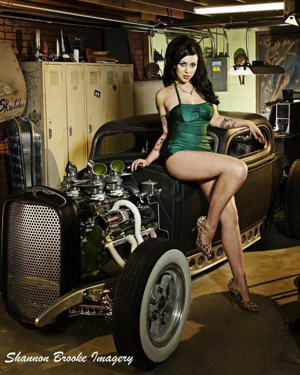 Hot rod pin up girls images