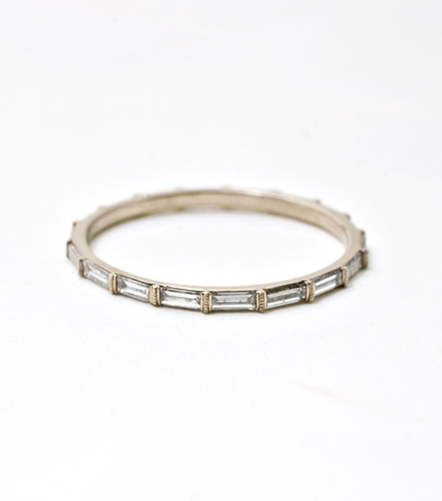 diamond baguette band wedding pinterest