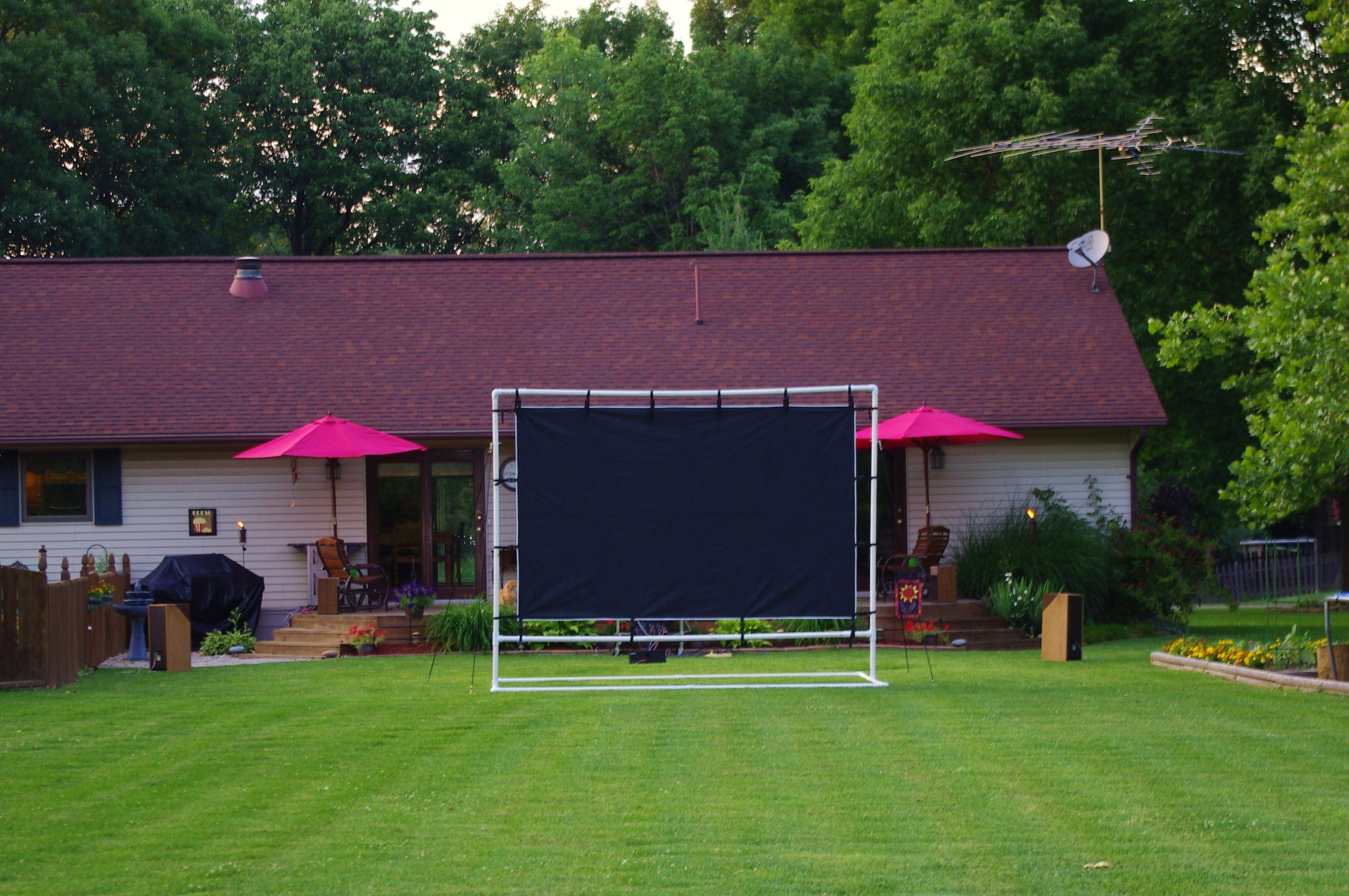 Backyard Theater Ideas : Our Backyard Theater  Backyard Theater Ideas  Pinterest
