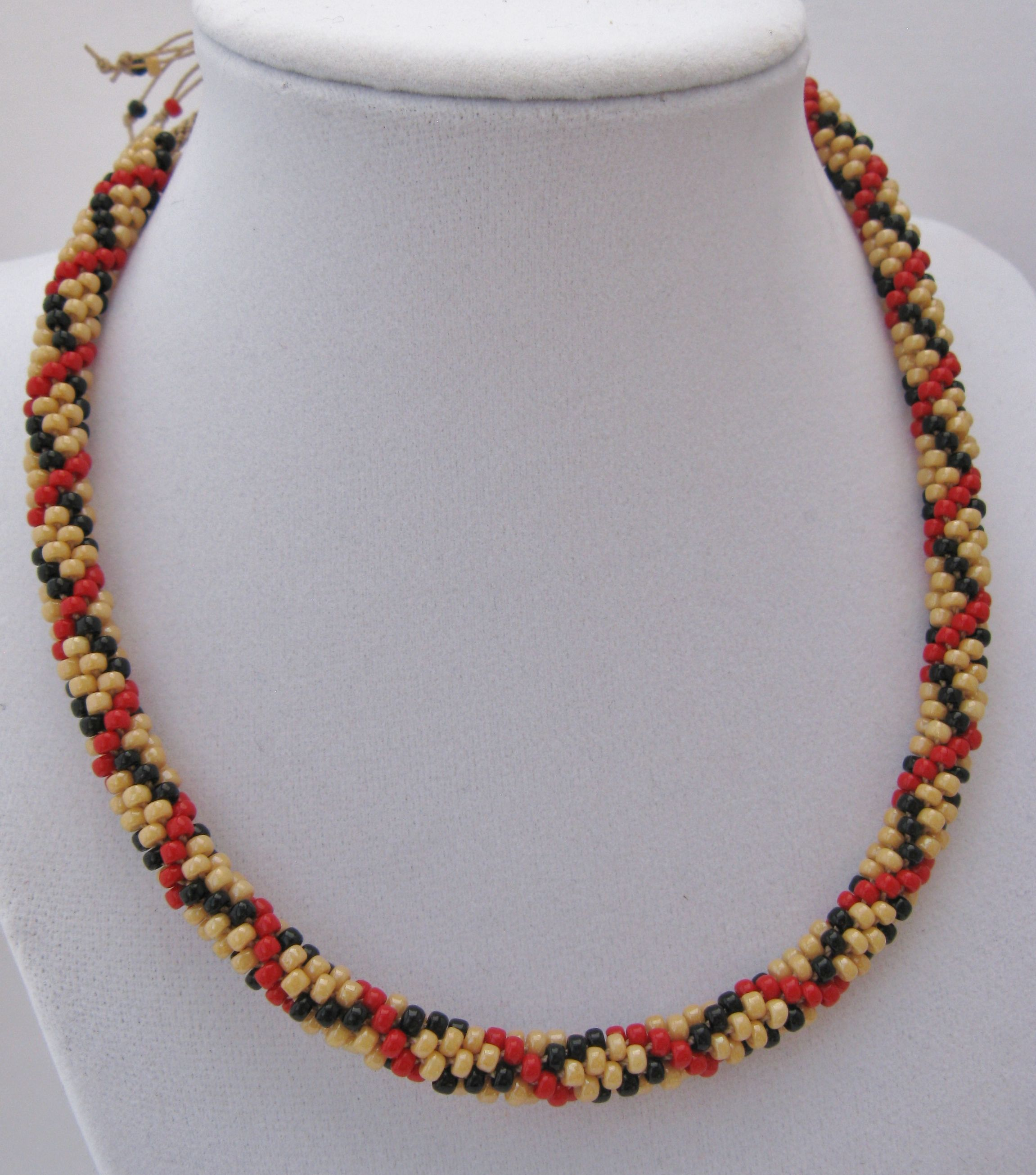 kumihimo burberry necklace beaded jewelry i ve made