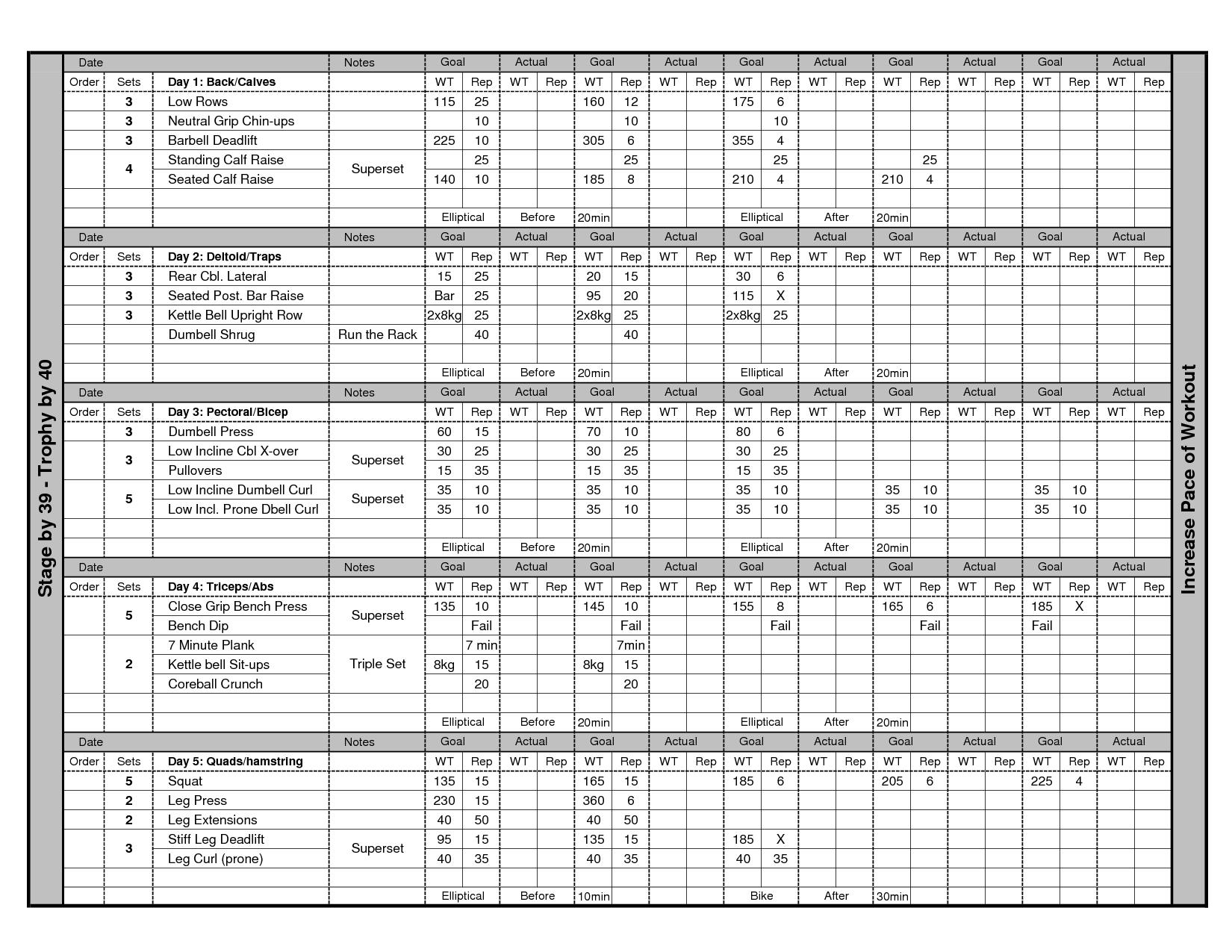 weight training schedule template juve cenitdelacabrera co