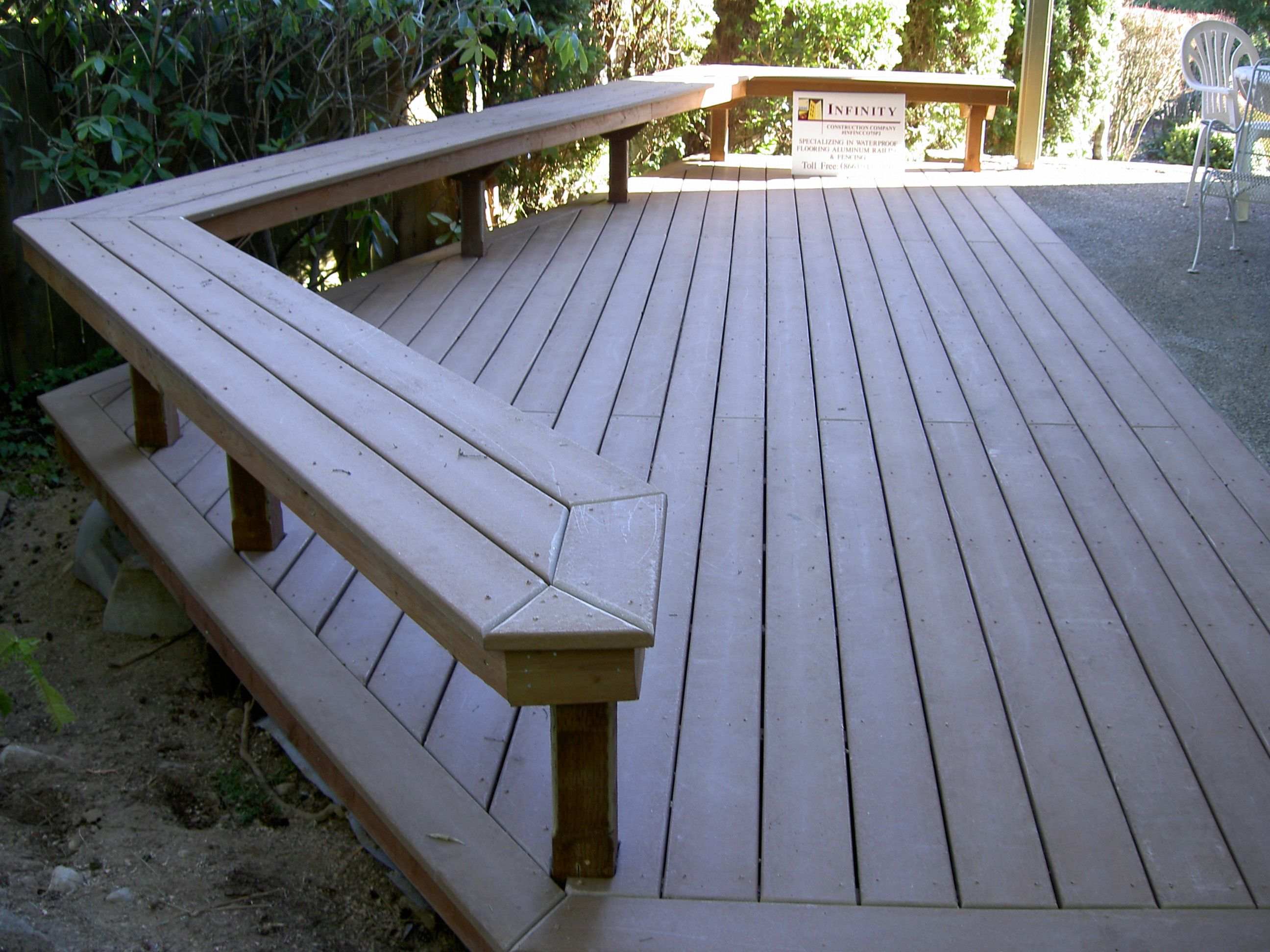Trex Deck Benches Up To Concrete Patio Decks Pinterest