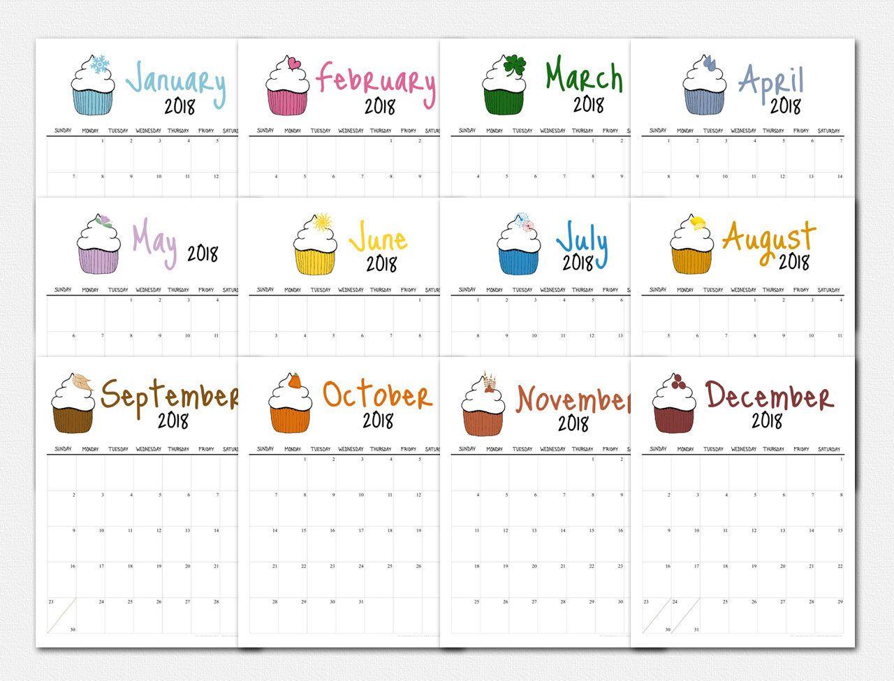 make a calendar 2018