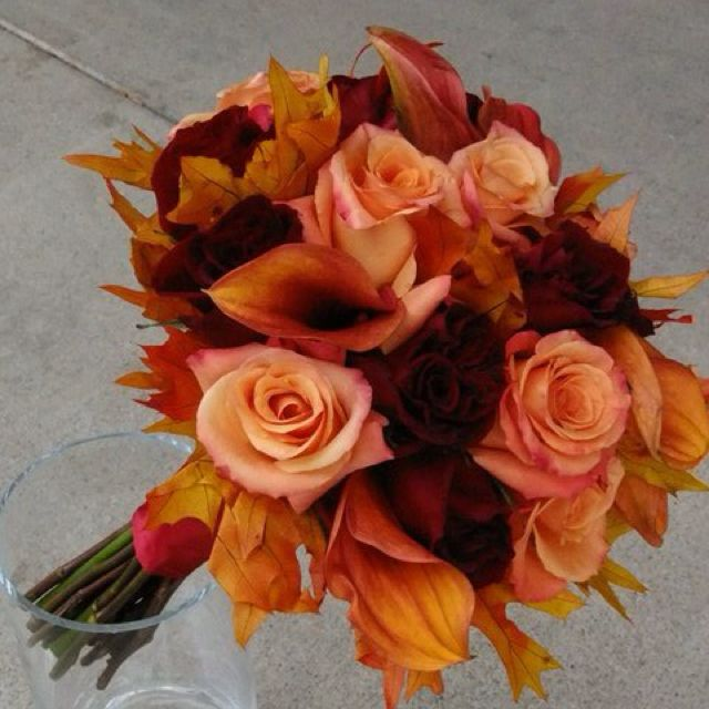 Fall wedding bouquet mrs mcclellan pinterest for Wedding bouquets for autumn