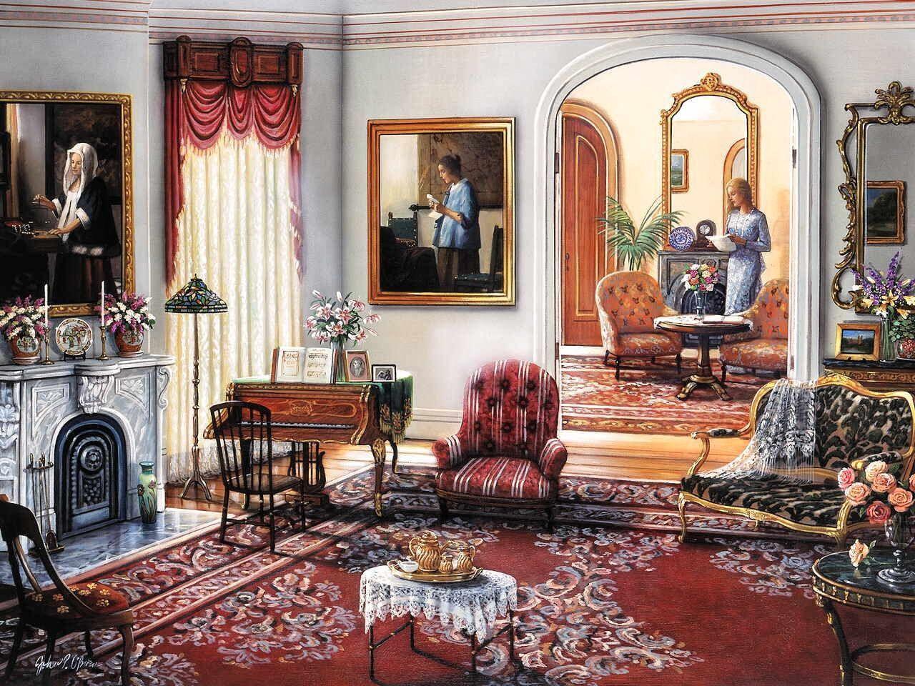 Homage to vermeer by john o 39 brien home sweet home art - Casas con estilo ...