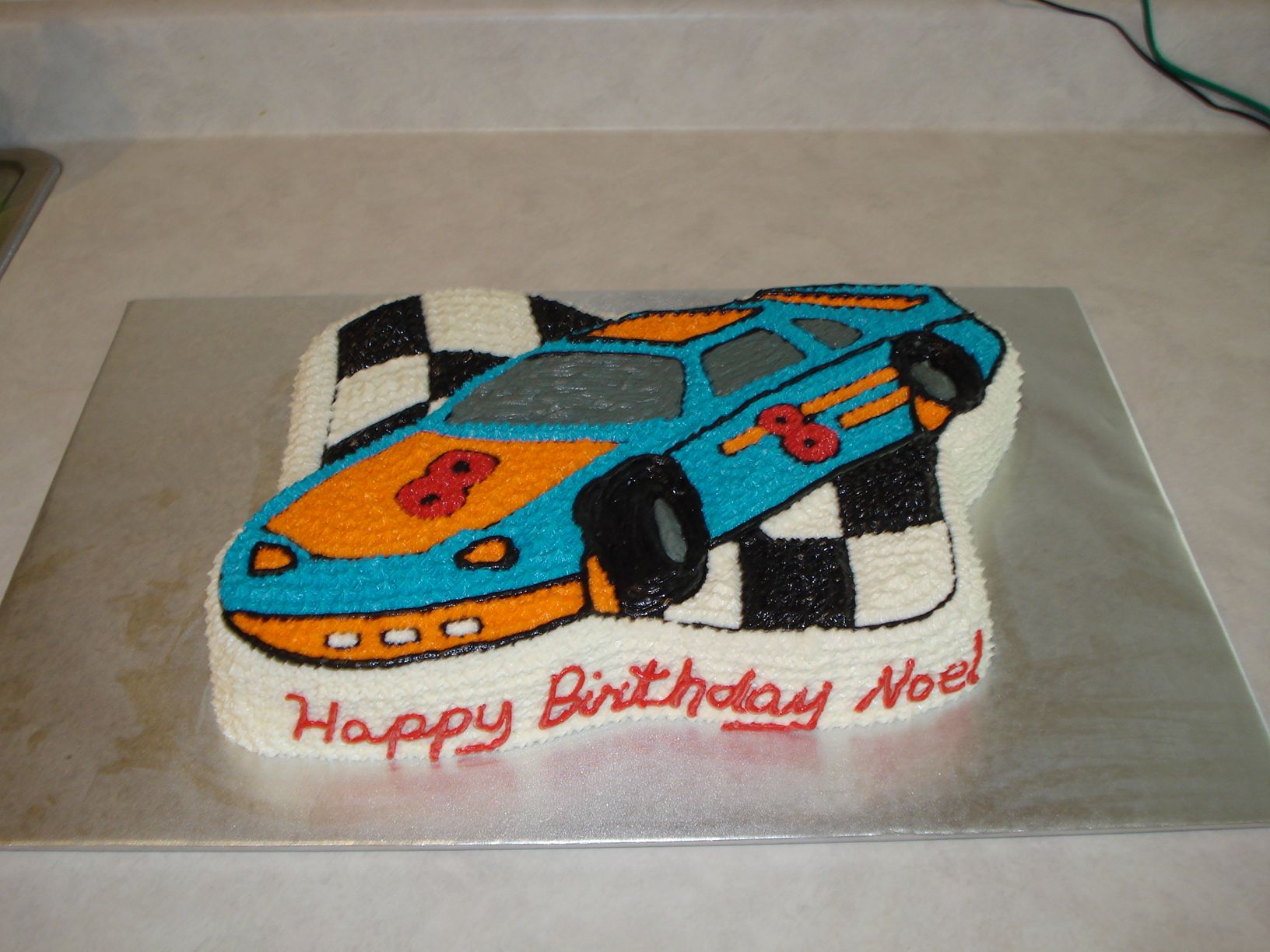 Pin car cake for 7 year old boy birthday supercars on pinterest