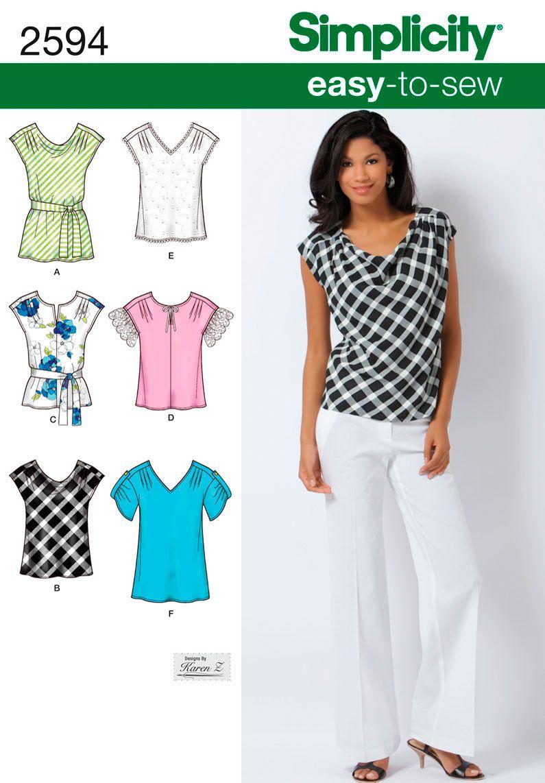 Простые выкройки блузок (Шитье и крой) Журнал Вдохновение 88