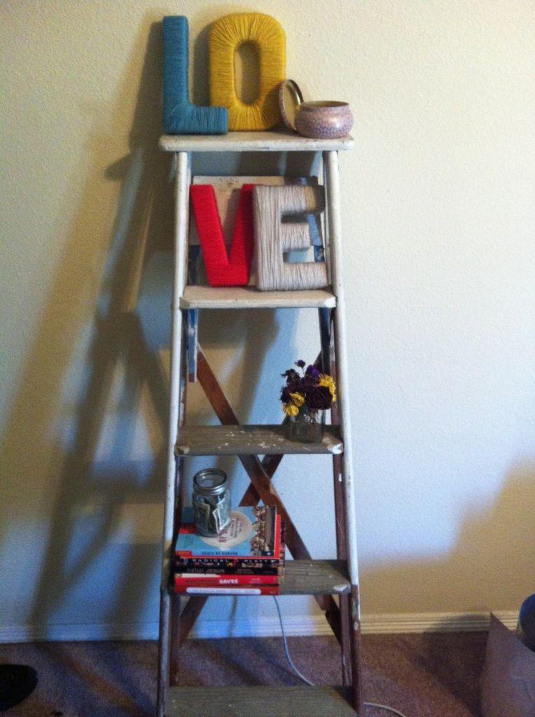wooden ladder shelf  Notebook  Pinterest