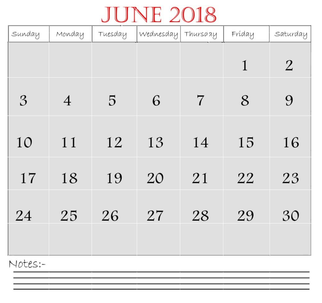 June 2018 Waterproof Calendar Planner | Calendar 2018 | Pinterest ...