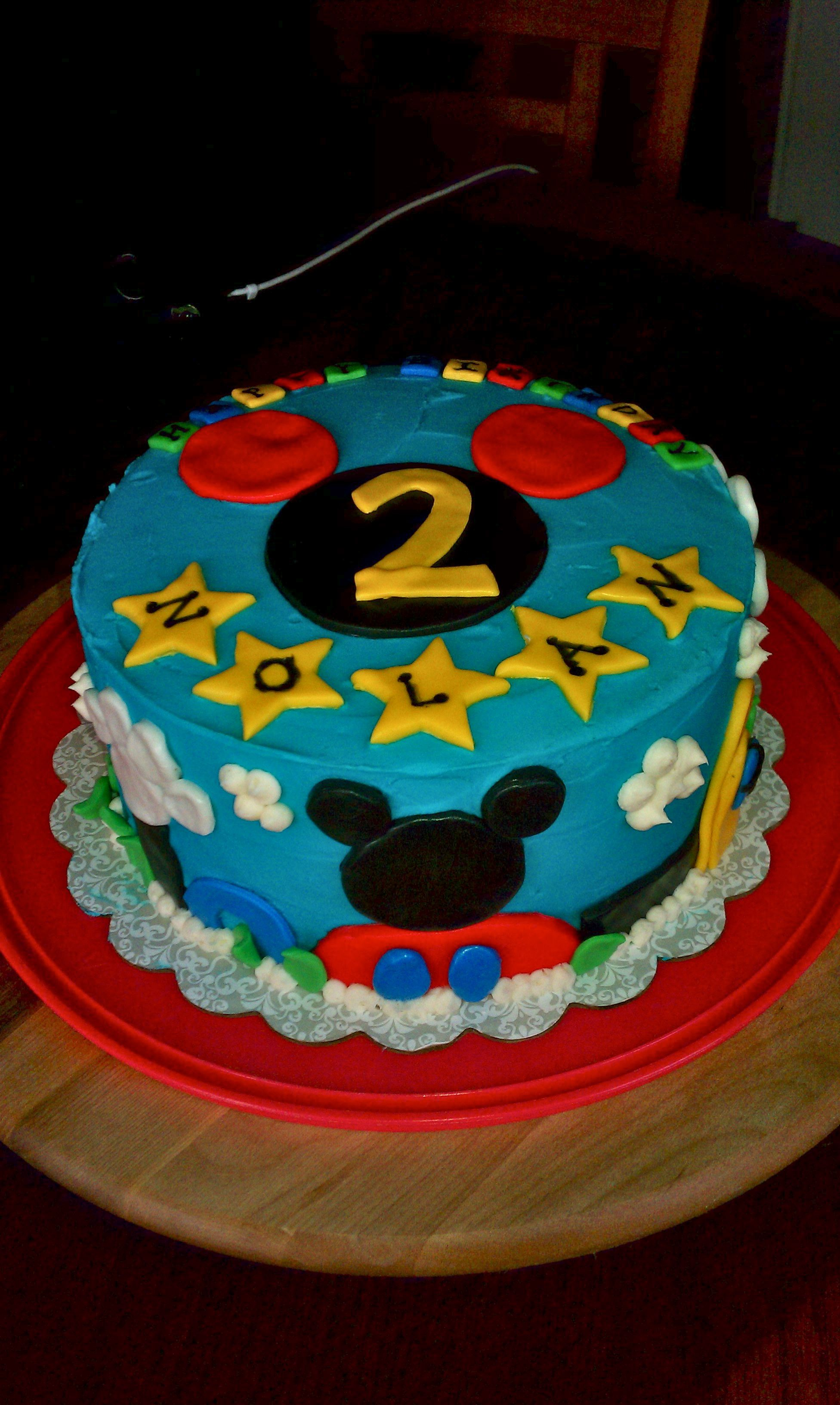 Images Of Mickey Mouse Birthday Cake : Mickey Mouse Birthday Cake 2nd birthday Pinterest