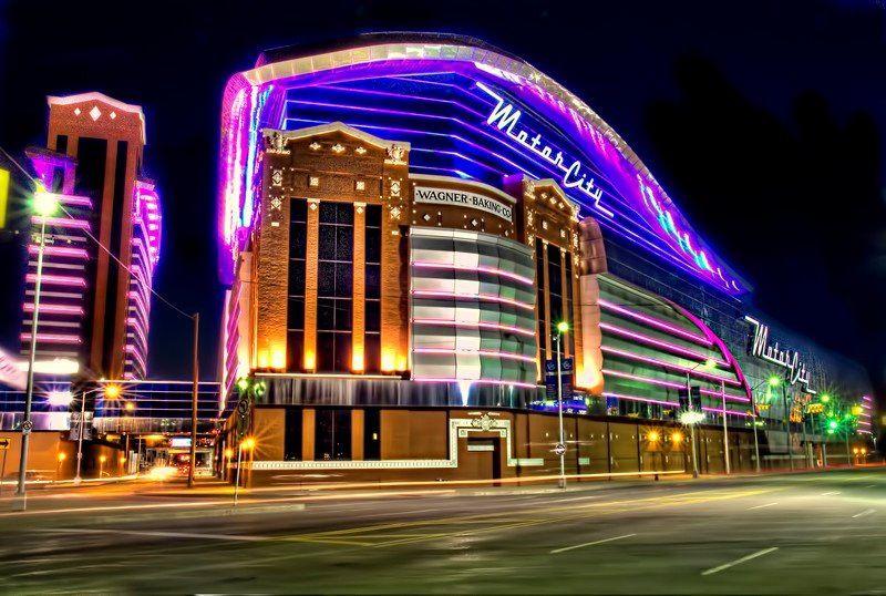 Motor City Casino In Detroit At Night Detroit Pinterest