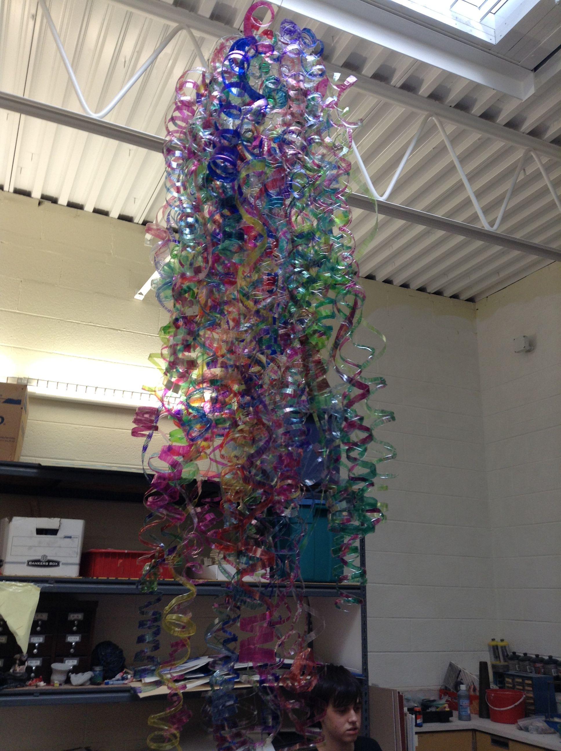 Our Plastic Bottle Chandelier Bottle Projects Pinterest