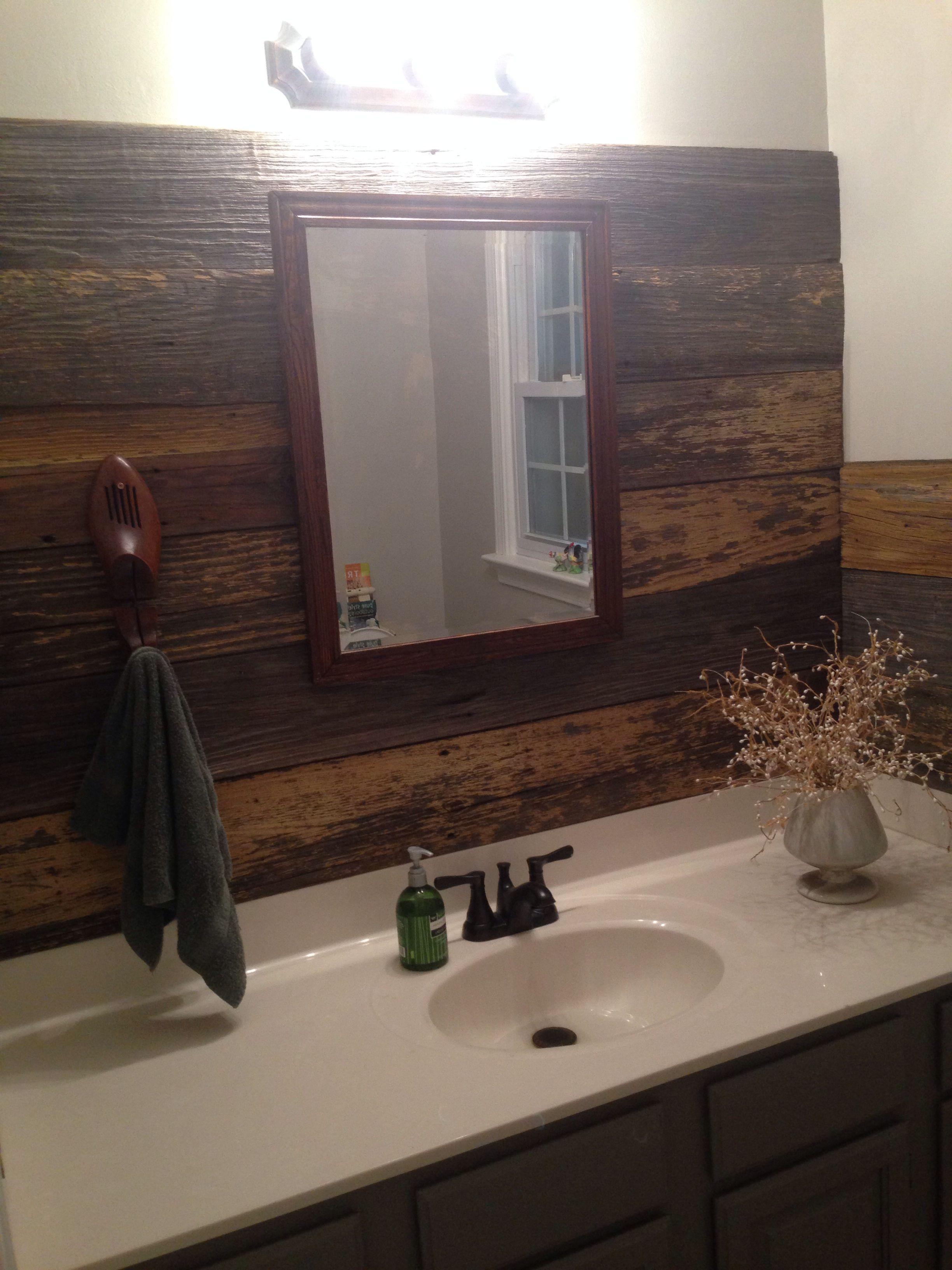 reclaimed barnwood backsplash bathrooms pinterest