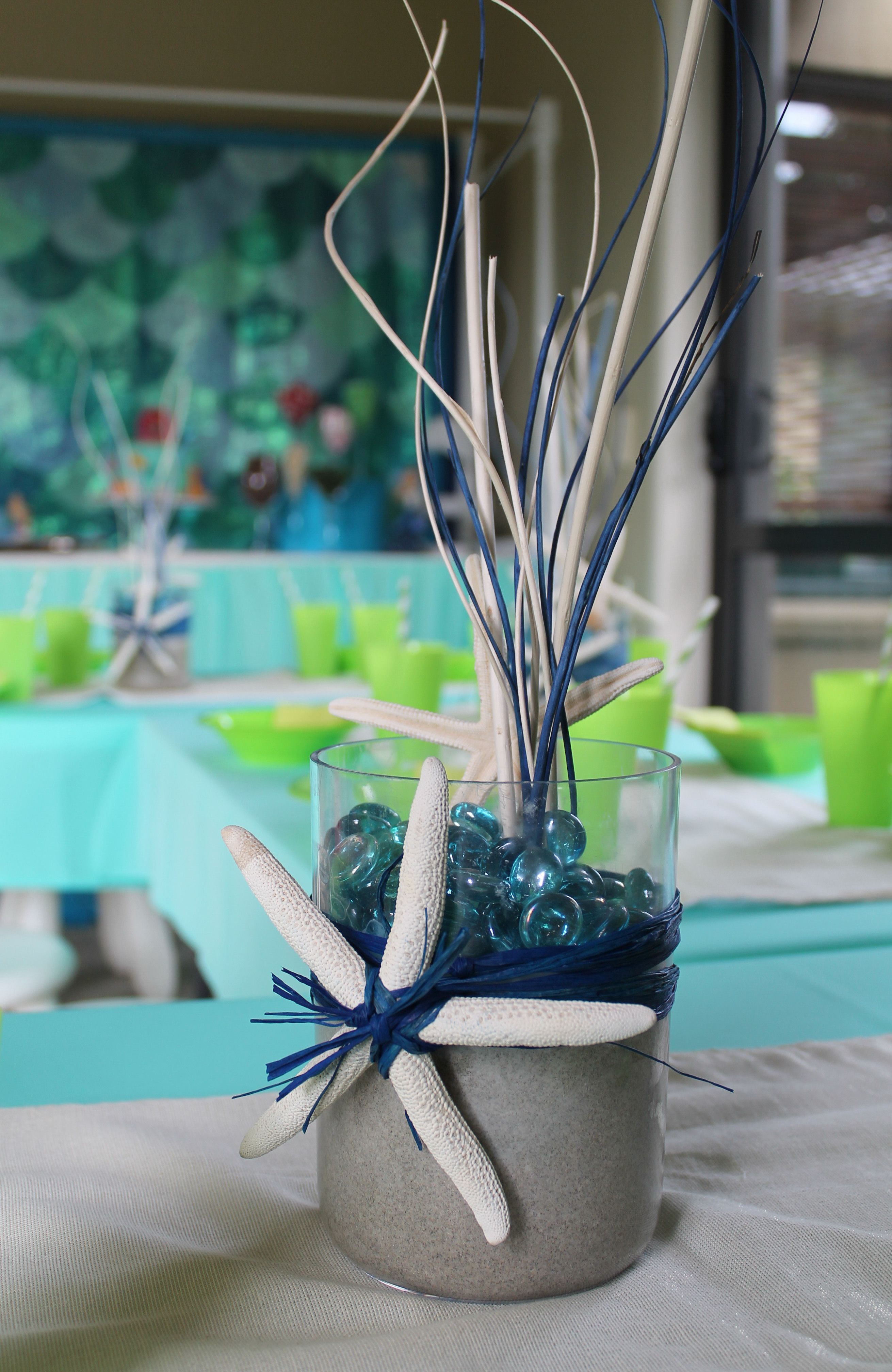 Under the sea table centrepiece party ideas pinterest