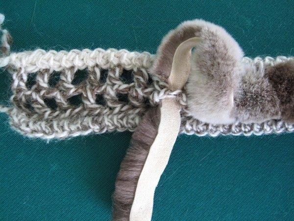 Как связать жилет меховой своими руками
