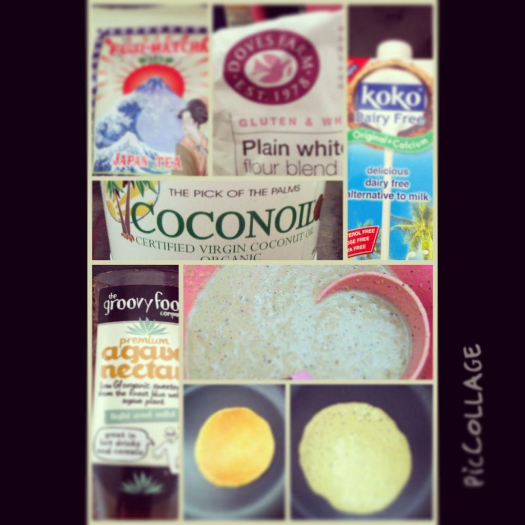Matcha green tea coconut pancakes   Yummy Food and Recipes   Pinterest